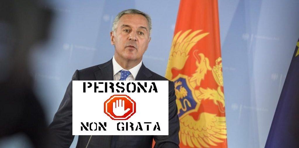 Джуканович будет персоной «non grata»