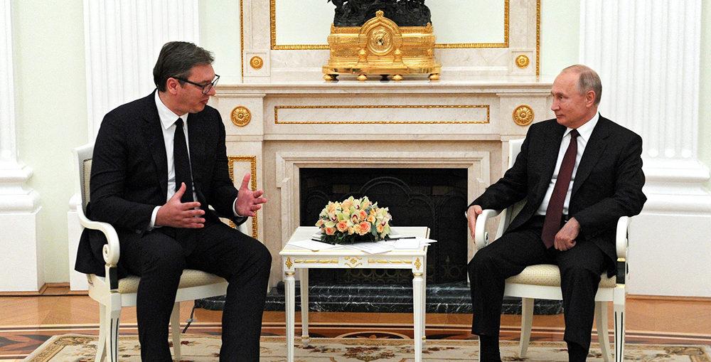 Встреча Путина и Вучича в Москве