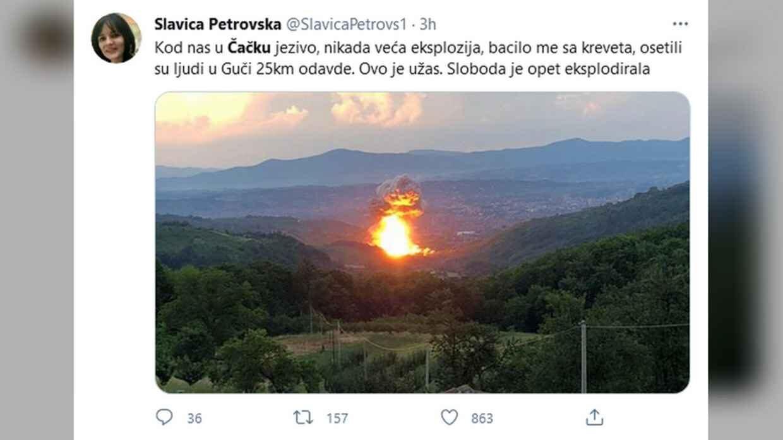 Серия взрывов в Сербии
