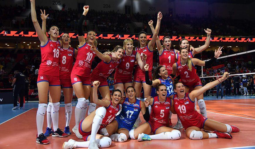 Волейболистки Сербии - чемпионки Европы 2019