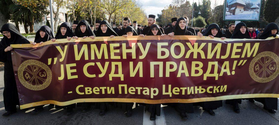 Протесты верующих Черногории